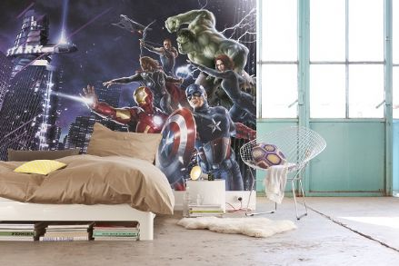 Marvel Avengers Team wall mural wallpaper